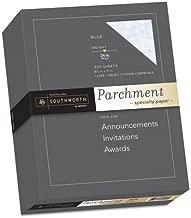 Southworth 964C Parchment Specialty Paper Blue 24 lb. 8 1/2 x 11 500/Box