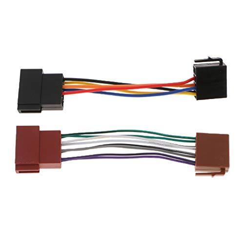 Toygogo Conector de Cable de Arnés de Cableado Macho a Hembra de Radio de 16 Pines para