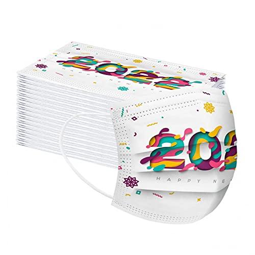 マスク 不織布 使い捨て 2022 明けましておめでとうございます ふつうサイズ 元日 新年お祝い 高性能フィルター やわらかゴム 女性 男性