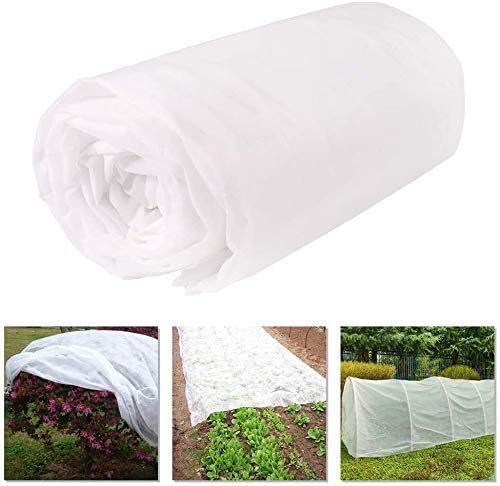 BGTOOL Garden Fabric Plant Cover Freeze Protection, Floating Row Cover 10ft×49ft Reusable Rectangle Frost Protection for Crop, Blanket for Vegetables & Plants for Preventing Cold Weather and Animal
