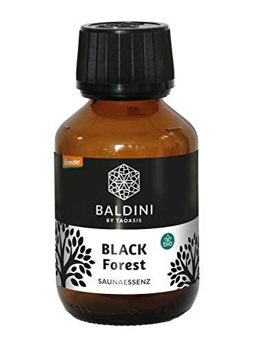 Baldini Black Forest Bio Saunaessenz aus 100{a6cd111af2b156732db73d8425eda83cf7cf5a76a746faafc3deb3101a830cea} naturreinen Rohstoffen, 100 ml
