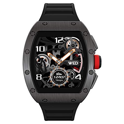 Aliwisdom Smartwatch für Herren Damen Kinder, 1,3 Zoll Fashion Smartwatch Fitness Uhr Wasserdicht Sport Armbanduhr Fitness Tracker für iOS Android, Mit Whatsapp SMS-Lesefunktion (Schwarz)