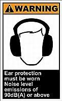 185新しいブリキのサイン耳栓は着用する必要があります騒音レベル警告安全壁の装飾のためのアルミニウム金属サイン8x12インチ
