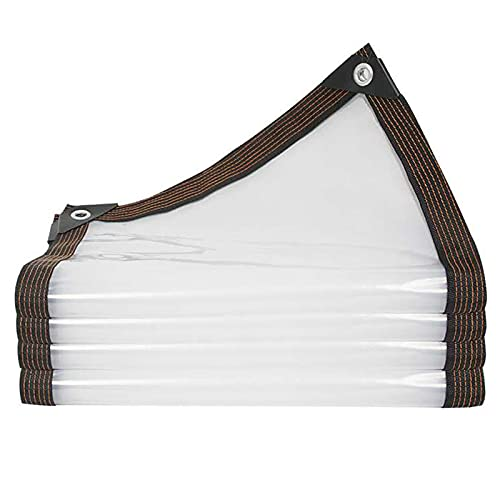 LIUDINGDING-zheyangwang Hoja De Lona Impermeable Transparente Hoja De Cubierta De Lona Resistente Muebles Cobertizo De Aislamiento De Plantas A Prueba De Lluvia(Size:16.4X32.8ft/5X10m)