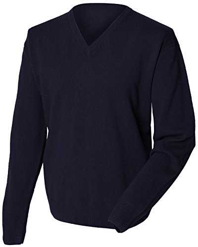 Henbury Men's Lightweight V Neck Sweater Navy XXL