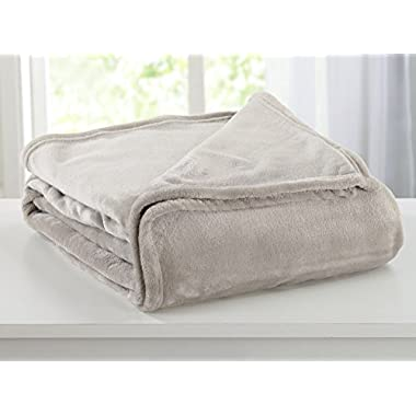 Ultra Velvet Plush Fleece All-Season Super Soft Luxury Bed Blanket. Lightweight and Warm for Ultimate Comfort. By Home Fashion Designs Brand. (King, Taupe)