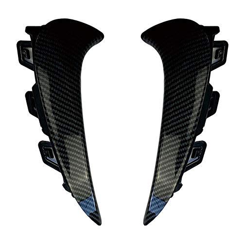 SHGE Spoiler De Parachoques, 1Pair Trasero Spoiler Spoiler Canards Splitter Fibra De Carbono ABS para Benz GLA Clase H247 GLA200 GLA35 GLA45S AMG Line 2020+