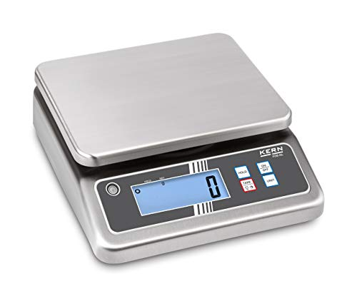 KERN Balanza de mesa FOB 30 K de 3nl compacto Acero Inoxidab