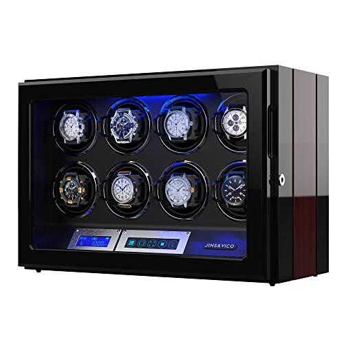Watch Winder, Wooden Finish with Adjustable...