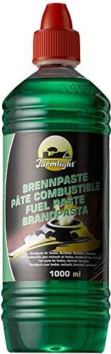 Farmlight 6 litros (6 x 1 l) de pasta combustible para chimenea, fondue de bioetanol para mesa o chimenea, gran ayuda para encender