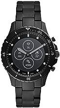 Fossil Men's 44MM FB-01 HR HR Heart Rate Stainless Steel Hybrid HR Smart Watch, Color: FB-01 - Black (Model: FTW7017)