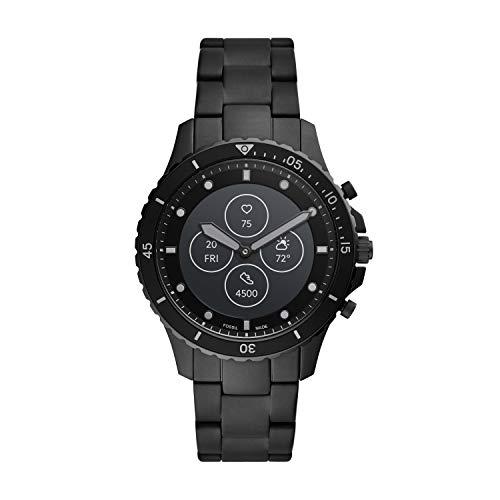 Fossil FB-01 HR- Hybrid Smartwatch Schwarzes Zifferblatt mit schwarzem Edelstahlarmband für Herren - FTW7017