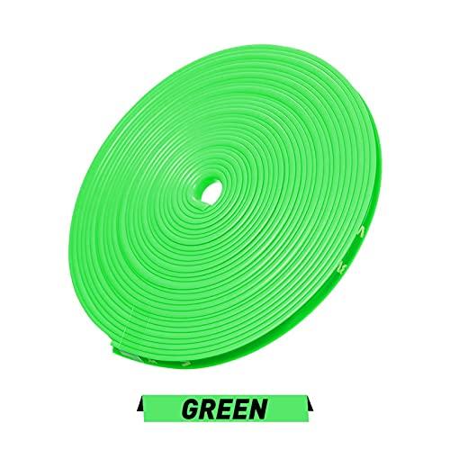 GUOPING ZHUQI 8m / Roll Rimblades Color Vehicle Color Rueda Llantas Ajuste para BMW E46 E39 E38 E90 E60 E36 F30 F30 E34 F10 F20 E92 E38 E91 E53 E70 X5 X3 X6 (Color : Green)