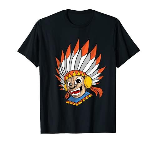 India Mono Indgena Americano Camiseta
