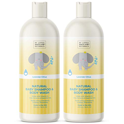 Baby Shampoo & Body Wash   Natural Head-To-Toe Gentle Soap   Made in USA   Citrus Lavender   2x16oz   Made without Sulfates - Packaging May Vary