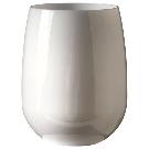 Stemless Wine Glass, Set of 4, White, 12 oz. - Contemporary - Wine Glasses - by symGLASS