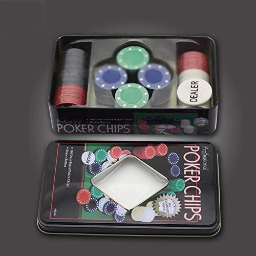 NanXi 100 Poker Chip Set of Poker Cards, Texas Holdem Blackjack Games Party Board Games Set Best Service