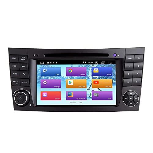 Android 10.0 Car Radio para Mercedes Benz Clase E W211 CLS W219 Navegación GPS estéreo para automóvil Reproductor multimedia GPS para automóvil con pantalla táctil de 7 pulgadas Soporte de pantalla Es