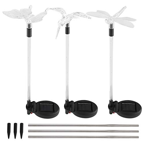 3pcs Garden Stake Light Hummingbird...