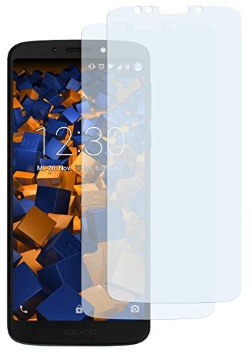 mumbi Schutzfolie kompatibel mit Motorola Moto G6 Play Folie klar, Bildschirmschutzfolie (2X)
