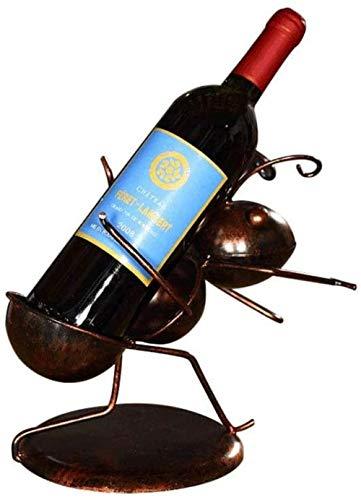 Skulptur Esstisch Weinregal Weinregal Lagerregal kleine Ameise Weinschrank exquisite Ornament Dekoration Weinflasche Weinregal Bar nach Hause Schmiedeeisen Weinregal Arbeitsplatte Schrank Wein Cel