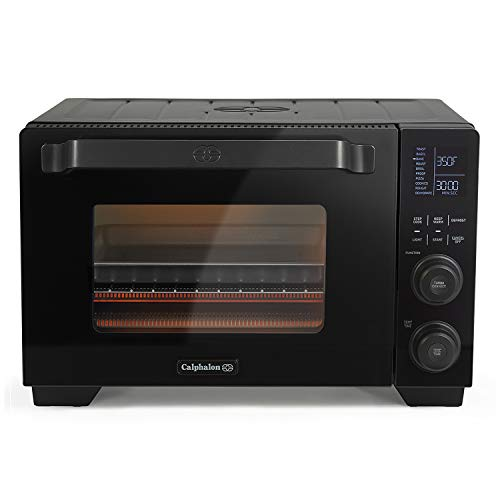 Calphalon Performance Cool Touch Toaster Oven with Turbo Convection, Large (2106488), Black/Silver