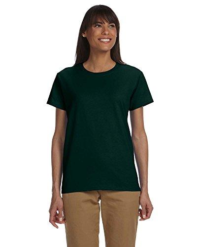 By Gildan Ladies Ultra Cotton 6 Oz T-Shirt - Forest Green - M - (Style # G200L - Original Label)