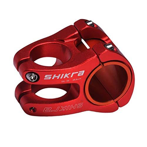 Perfeclan Alta Resistencia 31,8mm/35mm vástago Corto de Bicicleta de montaña para Manillar de 28,6mm, MTB BMX Piezas de Bicicleta de Pista - Rojo