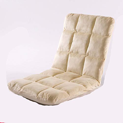 YUHUANG luie bank, eenpersoons opklapbare bed ligstoel Bay raam stoel balkon vloer slaapkamer stoel (103) cm