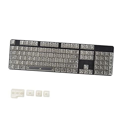 Homyl 104キーDIY透明キーキャップメカニカルキーボードPCゲーミングキーボードマシナリーカラークリアキーキャップセットCHERRYMX /クローンスイッチゲーミングキーボード用 - ブルートランスペアレント