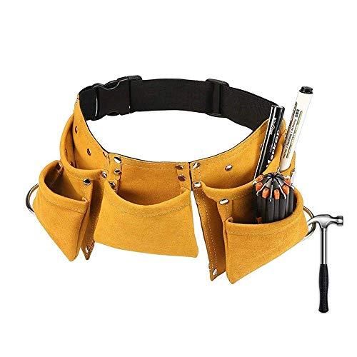 FENGLI Cinturón de herramientas para niños, multiusos de piel auténtica, ajustable, bolsa de herramientas para niños, ideal como regalo de cumpleaños (color: B)