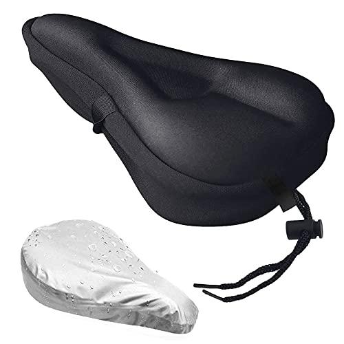 Gel Bike Seat Cover- Extra Soft Gel Bicycle Seat - Bike Saddle Cushion with...