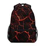 DXG1 Magma Lava Mochila para mujeres, hombres, adolescentes, niño, escuela, bolso de libros, suministros casuales