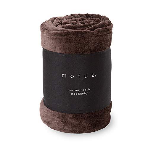 mofua(モフア) 毛布 シングル ふんわりあったか 静電気防止加工 マイクロファイバー 1年間品質保証 洗える 140×200cm ブラウン 50000106