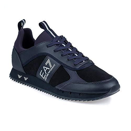 Emporio Armani EA7 Triple Negro Zapatillas Deportivas, azul (Azul noche), 40 EU