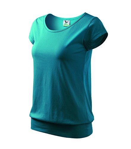 T-Shirt Ladies City Damenshirt 100% Baumwolle - Größe und Farbe wählbar- (L, dunkel türkis)