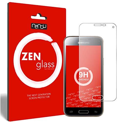 ZenGlass (2 Stück Flexible Glas-Folie kompatibel mit Samsung Galaxy S5 Mini Panzerfolie I Display-Schutzfolie 9H