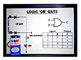 Or gate consists of one or more inputs, but with only a single output. Output of an or gate is true (or 1) if at least one of the inputs Quality assured project-model. This can be used as classroom teaching aid to demonstrate in front of students to ...