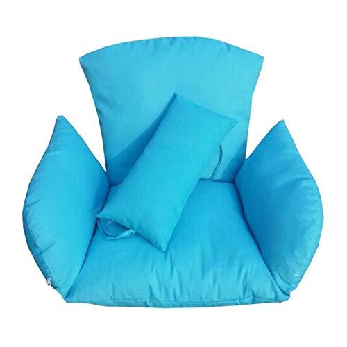 WYJW Opknoping eierhangstoel kussens zonder standaard, Swing stoel kussen dik nest opknoping stoel terug met twee kussen-D