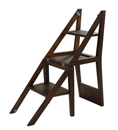 CAIJUN Leiter Aus Massivem Holz Dual-Use Multifunktion Einfach Zusammenklappbar Vierschichtiges Regal Gummi Holz Treppen Steigen (Farbe : 1#)