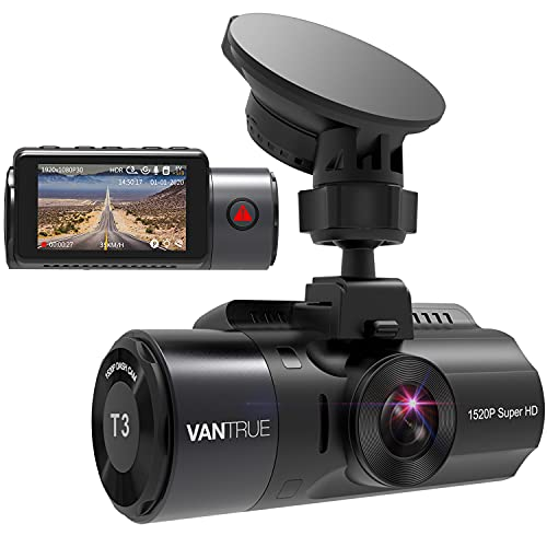 VANTRUE T3 2592x1520P OBD Dash Cam, Super Capacitor 24 hours Microwave Parking Monitor with HDR...