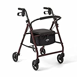 Medline Steel Foldable 4 wheeled walker