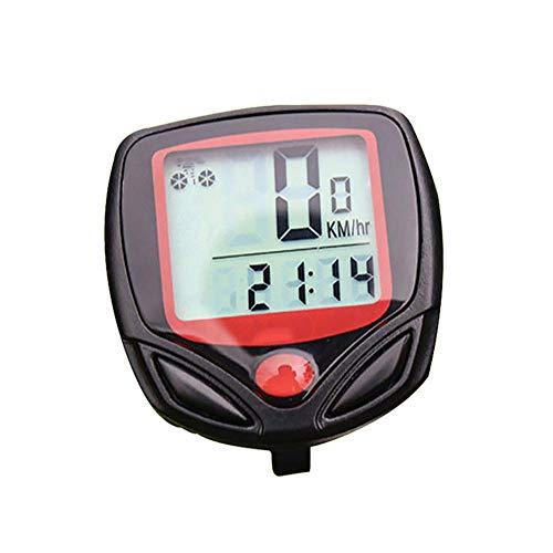 Velocímetro de la Bici inalámbrica, Pantalla LCD de 2 Niveles a Prueba...