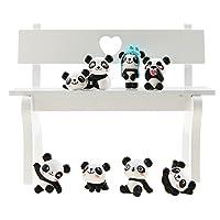 Unigift Set of 8 Cute Panda Toy Decoration - Cake Decoration - Bedroom Decoration