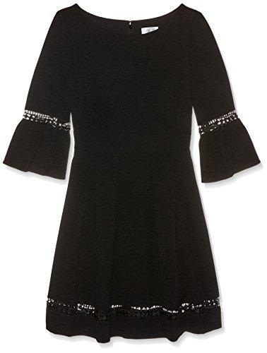 Eliza J Women's Bell Sleeve Fit & Flare Dress, Black, 12 Petite