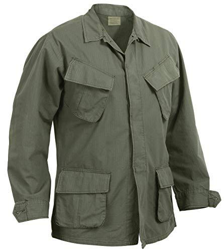 Rothco Vintage Vietnam Fatigue Shirt Rip-Stop, L, Olive Drab