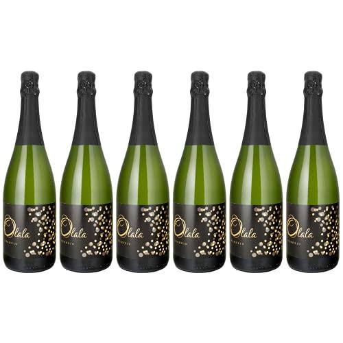 OLALÁ Verdejo Pack - Vino Blanco Espumoso de Uva 100% Verdejo, Aroma Frutal, Pospaladar Suave, Perfecto con Aperitivos, Embutidos, Mariscos, Arroces y Postres, 75cl