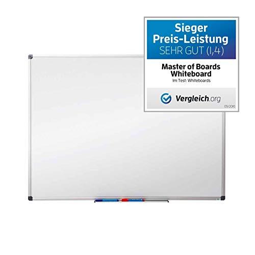 MOB Präsentationsboards mit Whiteboard- oder Glasoberfläche - 18 Größen - Magnetisch und beschreibbar (Whiteboard lackiert, 100 x 150 cm)
