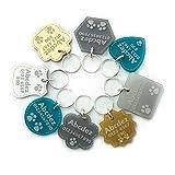 National Engraver Medaglietta Identificativa per Cani e Gatti e Animali Targhette Incisione Personalizzato Lusso Premium