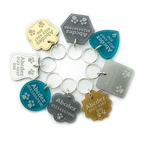 National Engraver Etiquetas de Identificación de Mascotas Perros y Gatos Personalizadas Grabado Premium